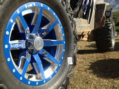 """Voodoo Blue Positive Octanes with Bullet Edge with """"Bad Dawg"""" engraved in spoke Voodoo Blue, Bullet, Wheels, Vehicles, Car, Automobile, Bullets, Cars, Cars"""