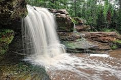 """""""Okun - de - Kun Falls"""" Michigan's Upper Peninsula. This remote Michigan waterfall is on the Baltimore river, Ontanagon County. July , 2010 Thanks for sharing! Michigan Nut Photography"""
