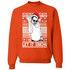 LET IT SNOW CHRISTMAS JOHN SNOW PRINT X MAS TRENDY KIDS MENS  UNISEX T-SHIRT