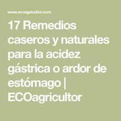 17 Remedios caseros y naturales para la acidez gástrica o ardor de estómago | ECOagricultor