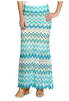 Karen Kane South Beach Multi Zig Zag Skirt - Belk.com