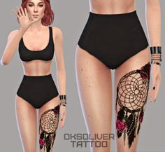 Sims 4 CC's - The Best: Tattoo by Oksoliversim