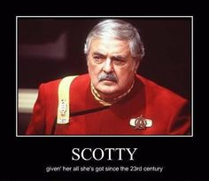 StarTrek: The ashes of James Doohan (Scotty) were blasted into space, a credit to all Redshirts!