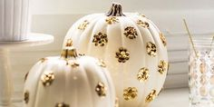 """Pumpkins can be hard to carve, especially if you live in a small space...   Ain't nobody got time for a pumpkin that does this:         Enter PureWow with the most beautiful pumpkins, ever.  Exhibit A:      These pumpkins scream """"sophisticated, adult Halloween party where no cops will be cal..."""
