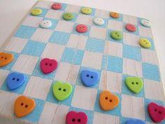 DIY Button Craft: DIYButton Checker Board