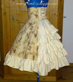 Country Lolita Bustle Back Highwaist Skirt