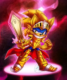 """Excalibur by Chejanea on deviantART - Sonic the Hedgehog - Sonic and the Black Knight - Excalibur Sonic - """"It's over now."""""""