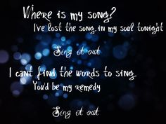 Sing It Out. Switchfoot.