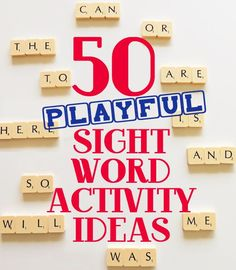 50 sight word activity ideas included in this list are most definitely not boring! These fun and playful ideas include something for everyone