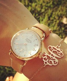 I love that monogram bracelet