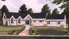 Ranch House Plan with 1636 Square Feet and 3 Bedrooms from Dream Home Source | House Plan Code DHSW70547