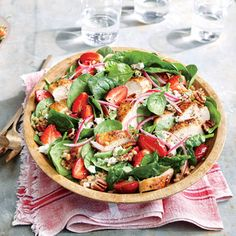 Strawberry-Chicken Salad with Pecans   MyRecipes.com