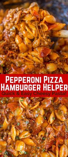 Pepperoni Pizza Hamburger Helper is a quick and easy cheesy pasta that tastes li. Pepperoni Pizza Hamburger Helper is a quick and easy cheesy pasta that tastes like your favorite pizza and it& ready to eat in just 30 minutes. Pizza Hamburger, Hamburger Dishes, Beef Dishes, Pasta Dishes, Food Dishes, Easy Hamburger Meat Recipes, Homemade Hamburger Helper, Dinner Ideas Hamburger Meat, Main Dishes
