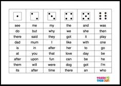 Sight word roll