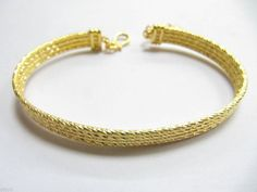 Authentic Amazing Real 24K Yellow Gold Bracelet 18.26 g #Chain US $1,214.00 Buy It Now