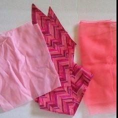 Pretty in Pink Vintage Scarves Lot 3 scarves- 3 different shades of pink; varying fabric Accessories Scarves & Wraps
