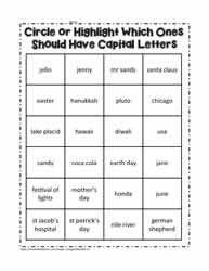 Highlight or Circle the Words | Third Grade | Capital letters ...
