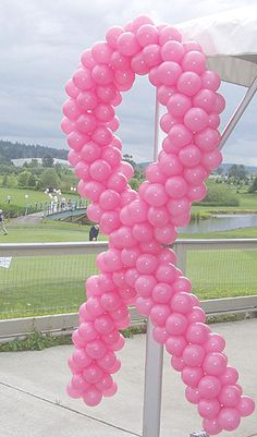 Balloon Breast Cancer Ribbon