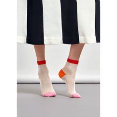 Slinky viscose in bright feminine hues makes our Grace Ankle sock a must-have. Our elegant color combination makes this design perfect to wear with monochrome outfits; we've fused a creamy white sock with contrasting pops of color with a hot orange heel, pale pink toe and slim, pillar-box red cuff. The Grace Ankle sock is made of a slinky, soft viscose and polyamide mix, so it feels as refined as it looks. Available in women's sizes.