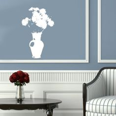 Housewares Vinyl Decal Flowers in Vase Home Wall Art Decor Removable Stylish Sticker Mural Unique Design for Any Room Decal House http://www.amazon.com/dp/B00D19TGPM/ref=cm_sw_r_pi_dp_VADTtb05ZA0E00D3