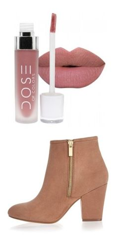 """""""чвава"""" by millirai on Polyvore featuring beauty products, makeup, lip makeup, lipstick, beauty, lips, shoes, boots, ankle booties и heels"""
