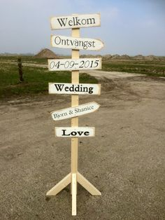 Bruiloft wegwijzer