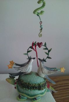 Twelve Days Christmas Krinkles Ornament Two Turtle Doves Patience Brewster MIB