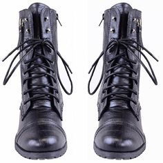 WOMENS LADIES ARMY COMBAT LACE UP ZIP GRUNGE MILITARY BIKER TRENCH PUNK GOTH ANKLE BOOTS SHOES SIZE: Amazon.co.uk: Shoes & Bags