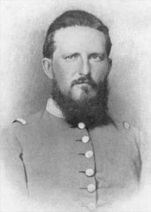 """Franklin """"Bull"""" Paxton was a general in the Confederate Army serving under Stonewall Jackson. He was killed at the Battle of Chancellorsville Virginia in 1863. His great-great-grandson is the actor Bill Paxton."""