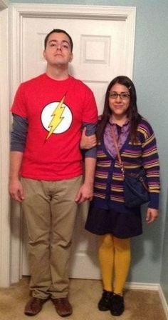 Halloween Costumes for Couples Sheldon and Amy from Big Bang Theory Halloween Costume More from my site The Couples Halloween Costume Ideas That Will Go Down In History – 14 Affordable & Cute DIY Halloween Costumes for Couples Halloween 2018, Original Halloween Costumes, Couples Halloween, Unique Couple Halloween Costumes, Funny Couple Halloween Costumes, Best Couples Costumes, Baby Girl Halloween, Halloween Costume Contest, Creative Halloween Costumes