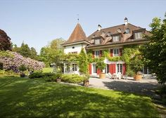 Historical country estate in the Canton of Zug. Cham, Zug, Switzerland