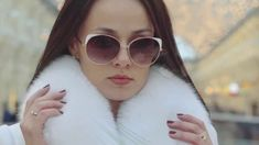 presentation collection of fur coats 2020 Round Sunglasses, Sunglasses Women, Coats 2017, Fur Coats, Presentation, Collection, Fashion, Moda, Round Frame Sunglasses