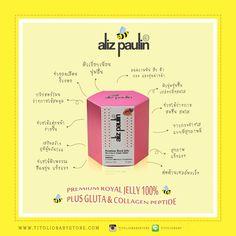 Aliz Paulin Rolyal Jelly นมผึ้ง   #antiaging #royaljelly #นมผึ้ง #alizpaulin #chiangmai #เชียงใหม่ www.titoliobabystore.com/category/39