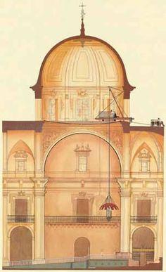 Dibujo representando el esquema de cómo se baja la Mangrana    #elche #misteri