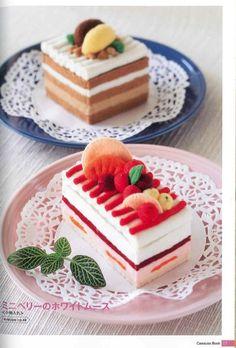 Cawauso Handmade Felt Dessert Book 02 Japanese por MeMeCraftwork