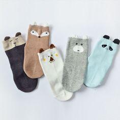 Animal Ears Kids Cotton Socks
