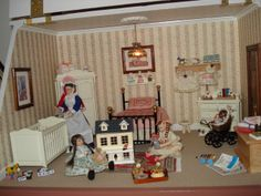 Nursery In The Ashcombe Manor Dolls House Small Houses Vintage Little