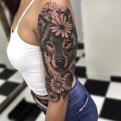 28 Of The Best Siberian Husky Tattoo Ideas for Men and Women Neue Tattoos, Dog Tattoos, Body Art Tattoos, Tattoo Skin, Eagle Tattoos, Tattoo Art, Wolf Tattoo Sleeve, Best Sleeve Tattoos, Tattoo Wolf