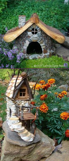 Do you want to have an enchanting stone fairy garden in your yard? Today we are sharing about how to build a stone fairy house for your garden. Fairy House Crafts, Garden Crafts, Garden Projects, Garden Art, Mini Fairy Garden, Fairy Garden Houses, Toad House, Fairy Furniture, Beautiful Fairies