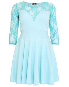 Lovedrobe Kleid mit Spitze  Lovedrobe Lace Dress   | Übergröße - XXL-Mode - Plus Size - Große Größen - Molly - Fashion - Kleidung