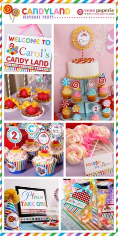 candy party dessert table , DIY birthday decoration (www.venspaperie.com) this is going to be for my puppies one year birthday<3 cupcakes turns to pupcakes, candy turns into doggie treats<3 they will love it!