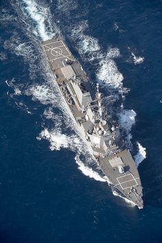 The Arleigh Burke-class guided-missile destroyer USS Stout (DDG 55)
