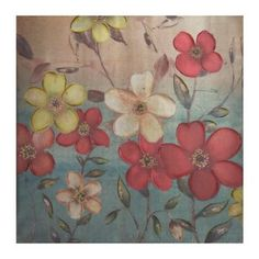 Dancing Florals Metallic Canvas Art Print | Kirklands