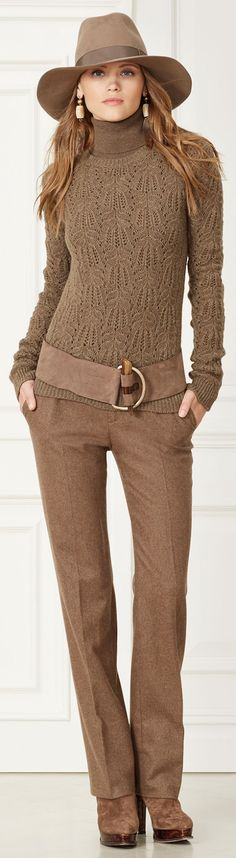 Ralph Lauren ~ Seth Merino Wool Pant, Fall 2015 Loved and repinned by Hattie Reegan's www.etsy.com/shop/hattiereegans