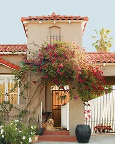 """The 1934 Spanish-style home in Los Angeles is dominated by shades of white -- which may seem counterintuitive for a house with children -- but Amy insists """"everything is machine-washable. Spanish Style Homes, Spanish Revival, Spanish House, Spanish Colonial, Spanish Design, Spanish Exterior, Spanish Modern, Spanish Tile, Mexican Hacienda"""