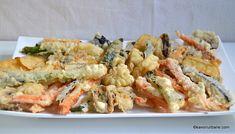 Legume prajite in aluat crocant cu bere – tempura Finger Food Appetizers, Finger Foods, Appetizer Recipes, Avocado, Ratatouille, Pasta Salad, Broccoli, Cauliflower, Shrimp