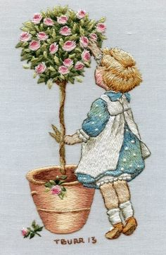 Embroidery Needles, Crewel Embroidery, Embroidery Applique, Embroidery Patterns, Machine Embroidery, Broderie Simple, Art Du Fil, Thread Painting, Painted Books
