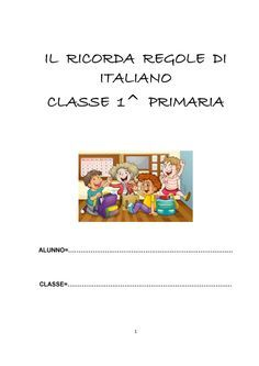 IL RICORDA REGOLE DI ITALIANO
