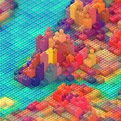 Geometric Landscapes Work of JR Schmidt - 3D Artist & Motion Designer - http://cargocollective.com/jrschmidt