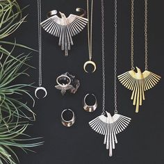 Torchlight Jewelry - Thunderbird Necklaces, Thunderbird Rings, Crescent Necklaces & Oros Rings at Prism Boutique / Available in silver & brass